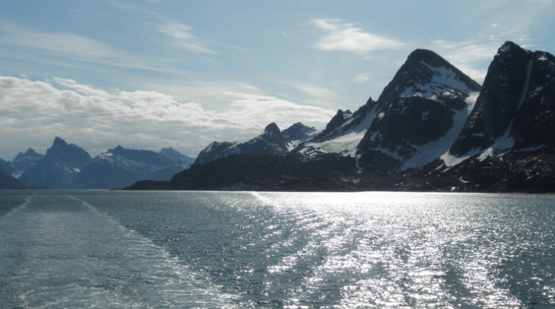 Sailing up the west coast of Greenland.