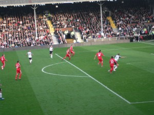 Fulham about to score their first goal against Liverpool.  COYW!!!