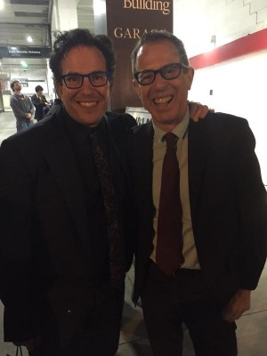 Turns out my tie wasn't such a bad match after all. With American Idiot director Michael Mayer.